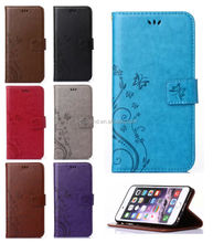 Fashion Flower Magnetic Flip PU Leather Wallet Card Holder Stand Case Cover For iphone 6 6S 6 PLUS