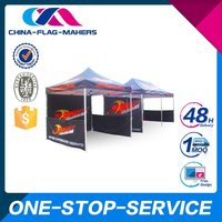2015 New Style Good Quality Unique Design Sublimation Printing Custom Shape Tents