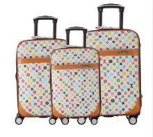 many style luggages,hard cover suitcase,pu material trolley case