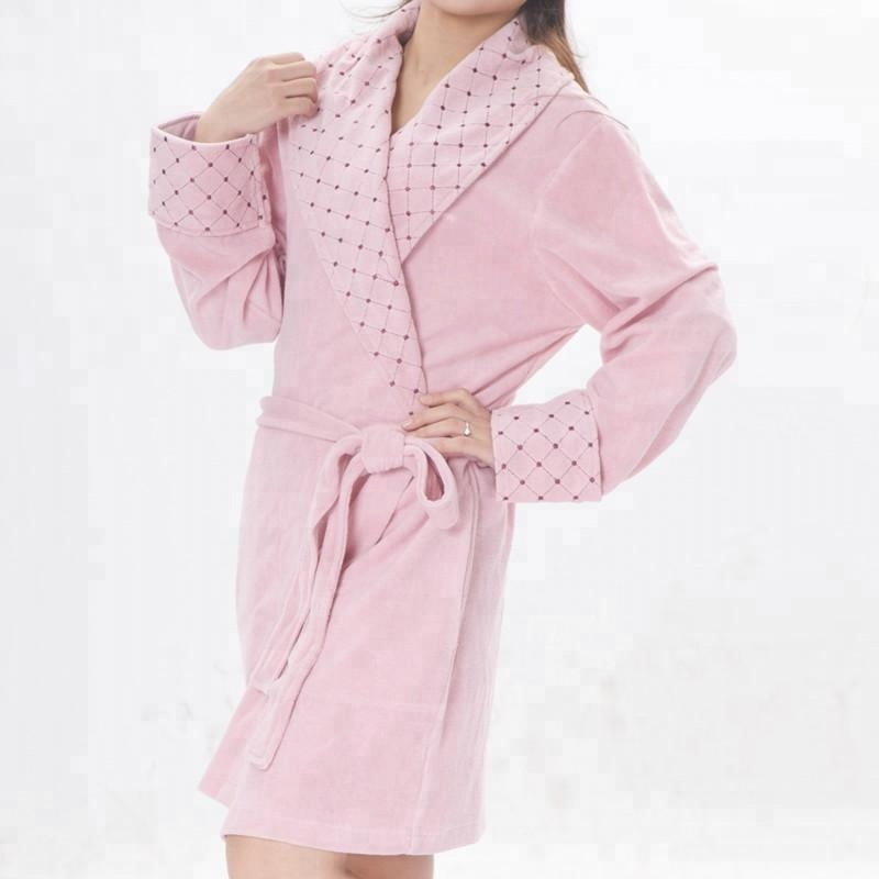 Eco-friendly Soft New Arrival Cotton Polyester Robe Women Nighty Sleepwear