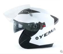YM-627 double visor helmet open face helmet with ECE standard motorcycle helmet