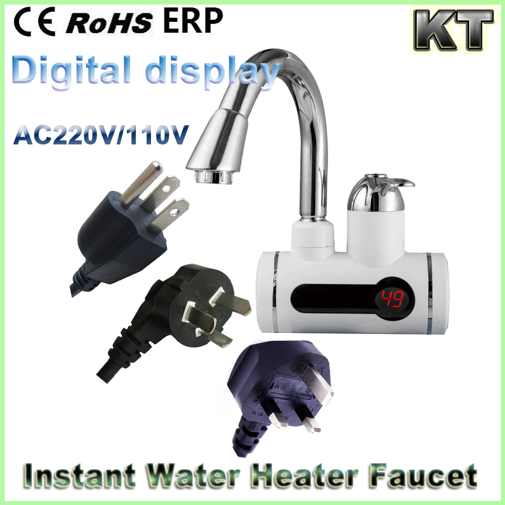 220V 3000w 3 Second Hot Water Electric tankless instant hot water heater tap