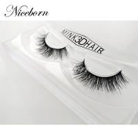 Hot sell high quality clear band genuine 3d mink lashes