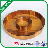 Acacia wooden chip tray,wood dip tray