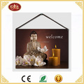 Small Size Hanging Budda Canvas Painting with Led Light For Home Decoration