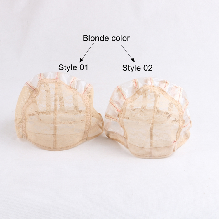 Different color and sizes plastic wig cap with adjustable straps wig caps for making wigs