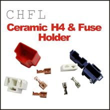 High Temperature Resist H4 Ceramic Socket and Fuse Holder