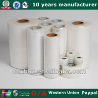 Hand And Machine Grade Clear LLDPE Stretch Film Soft Roll