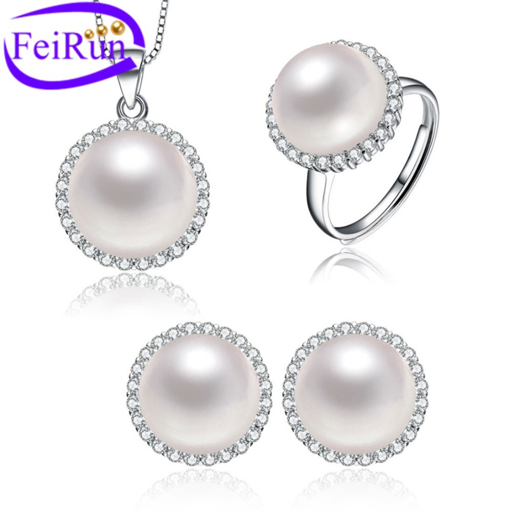 new design elegent nice cultured genuine freshwater pearl <strong>jewelry</strong> PS28