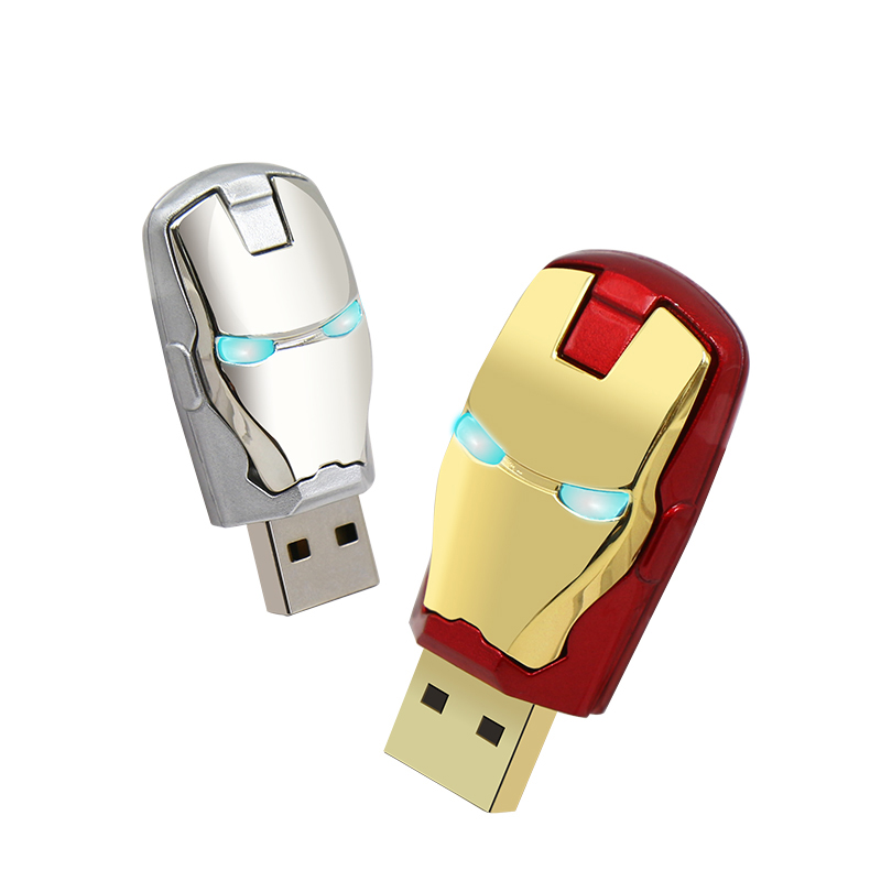 Fashion Optional Gift Avenger Ironman Shaped USB Flash Drive in 8gb 16gb 32gb 64gb factory cheap price gift pendrive