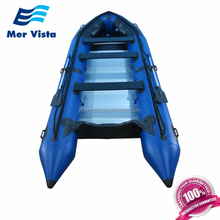 (CE) 16ft 5m Pvc Aluminum Fishing Inflatable Pontoon Boat For Pontoon Boat