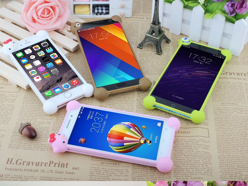 Phone Cases for Huawei P8 Lite case TPU Soft Silicon Rabito holder Sling mobile phone bags & cases Brand New 2015