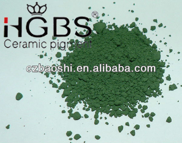 Ceramic color stain pigment for glaze-deep green