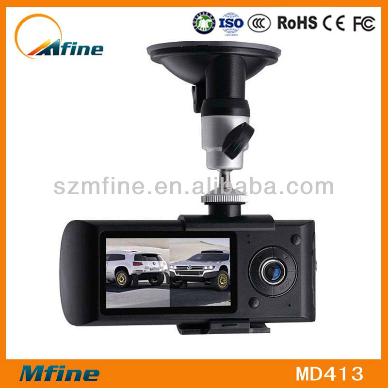 Full HD 2 channel car dvr,Camera video recorder gps,g-sensor car cam dvr