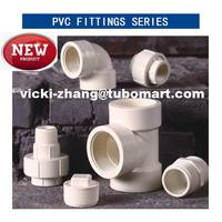 HOT SALE PVC Pipe Fittings PVC elbow adapter tee fittings Manufacturer for PVC Pipe