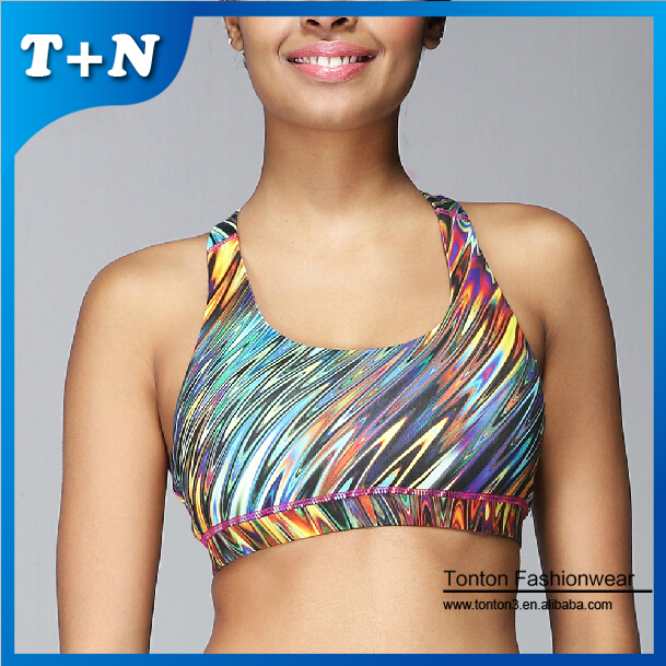 Factory Hot Selling Sexy Fashion Yoga bras Ladies Sublimation Printed Fitness wear Women's Sport Yoga Bras