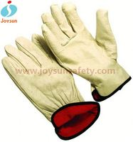 black leather driving gloves latex coated safety working glove gloves with nails leather
