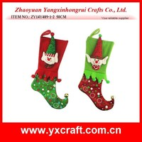 christmas decoration (ZY14Y489-1-2 50CM) Christmas elf stocking decoration craft item