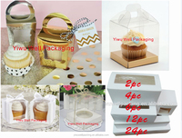 High quality cucapke box ,cake box single cupcake box ,2pc ,4pc ,6pc ,12pc ,24pc