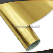 Auto gold chrome brushed vinyl roll film ,metal car body sticker design printing 1.52*30m