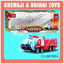 Bump and go battery operated electric fire truck toy