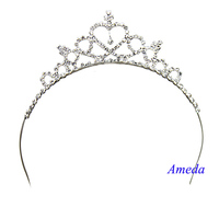NEW Flower Girls Bling Crystal Crown Princess Headband Tiara Dance Wedding Party