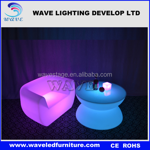 factory brilliant led lighted up modern night club furniture