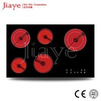 2017 Jiaye 5 Zone Ceramic Hob Eurokera Glass JY-CD5002 China Supplier