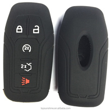 Silicone rubber key fob cover case skin protector for ford Mondeo fusion