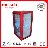 68LBeverage Cooler Commercial Glass Door Small Refrigerator,glass door mini refrigerator,3 door commercial refrigerator