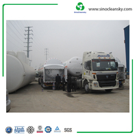 Liquid Gas Lorry Tanker , cryogenic tank trailer