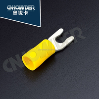 LSV 1.25 -3.5 red yellow blue cold pressing locking spade terminal with insulated hook