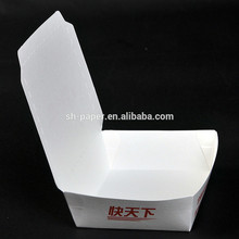 Food grade recyclable take away paper food box with flexo printing