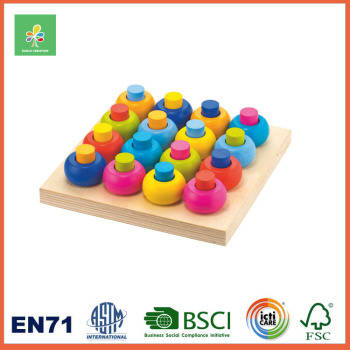 Wooden OEM Peg Tower Board Foreign Kids Games Montessori Educational New Toys for Kid 2016