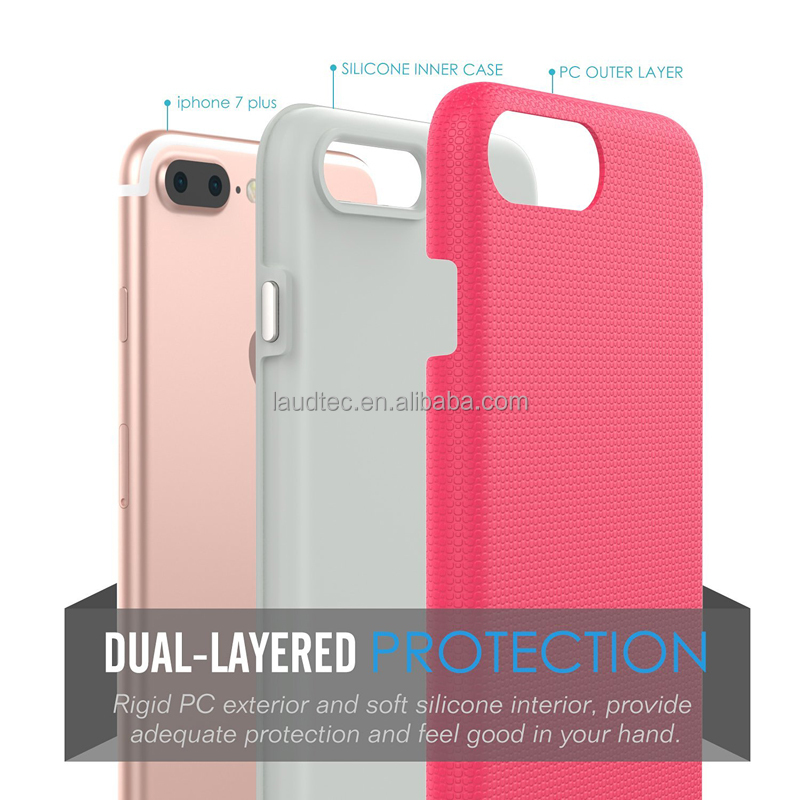 <strong>2</strong>+1TPU+PC Anti-skid Shockproof Rugged case for iphone 7 plus