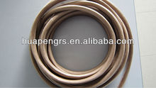 Heat treated saturated fiberglass sleeving for high temperature