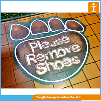 Advertising floor sticker printing at custom