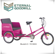 20 inch passager pedicab/electric tricycle rickshaw/electric bike tricycle/TC8001/truck cargo tricycle