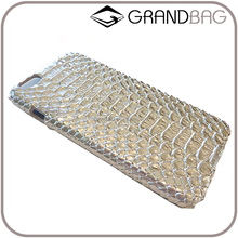 blinking silver embossed snake print leather 4.7/5.5 inch phone case, hard case phone holder for iphone 6s/plus