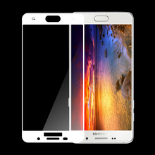 2.5D 9H 0.33mm silicone Silk print Full cover phone tempered glass screen protector for samsung A7