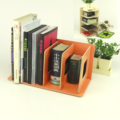 4 Compartments Wooden DIY Bookend For Home/Office