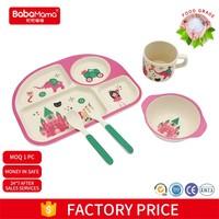 FDA Standard BPA Free Wholesale unbreakable kids bamboo child tableware