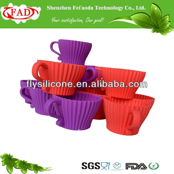 Eco-friendly And Non-stick Food Grade Cheap Silicone Teacup Cup Cake, Cup Cake Kitchen