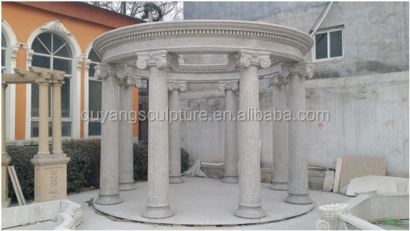 simple style white garden large marble gazebo for sale