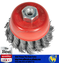 heavy duty 3'' Knotted Wire Wheel Cup Brush Paint Rust