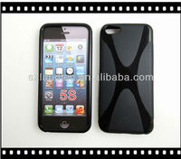 2013 New Coming Products X Type Tpu Gel Case Cover For Apple iphone 5s Mobile Phone over