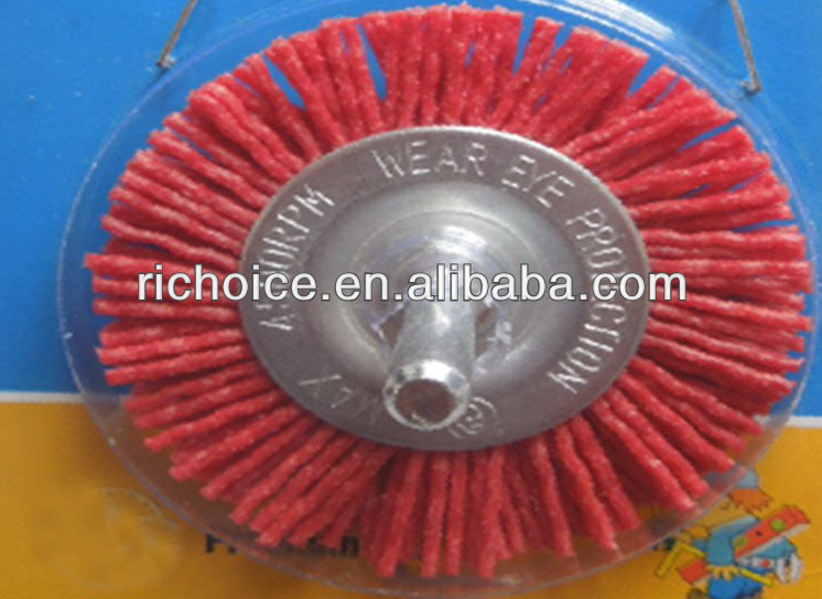Wheel brush with shaft, Abrasive filaments