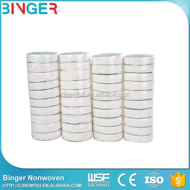 wholesale disposable Nonwoven magic coin tissue round compressed towel