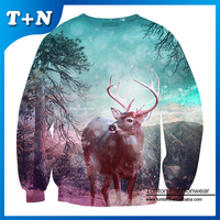 custom all over sweatshirt printing 100% polyester sweatshirt