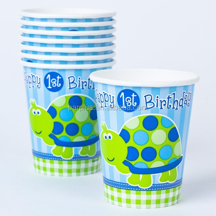 Birthday Themed Party Paper Cups